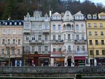 As construções em Karlovy variam Imagem de Stock Royalty Free