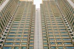 As construções residenciais dos ângulos da foto em Hong Kong podem ser encontradas véspera Imagem de Stock Royalty Free