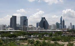 As constru??es modernas aumentam em Banguecoque fotos de stock royalty free