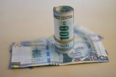 As contas peruanas das solas rolaram imagem de stock royalty free