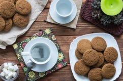 As cookies da aveia Imagens de Stock Royalty Free