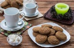 As cookies da aveia Imagens de Stock