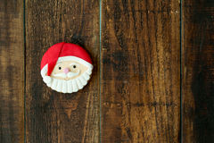 As cookies deliciosas do Natal com Santa Claus enfrentam Fotos de Stock Royalty Free