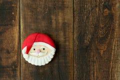 As cookies deliciosas do Natal com Santa Claus enfrentam Imagens de Stock