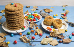 As cookies e outros doces Imagem de Stock Royalty Free