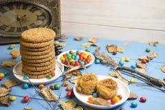 As cookies e outros doces Fotos de Stock Royalty Free