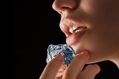 As cool as ice as hot as passion. Royalty Free Stock Image