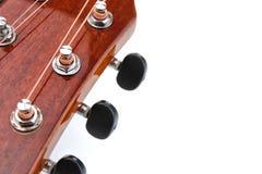 As cordas da guitarra acústica fecham acima da vista superior com espaço vazio para você o texto Imagem de Stock Royalty Free