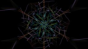 As cores brilhantes das linhas no fundo preto foto de stock royalty free
