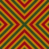 As cores da reggae fazem crochê o fundo feito malha do estilo, vista superior Colagem com reflexão de espelho com rombo Monta sem ilustração do vetor