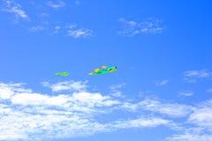 As cores do papagaio no céu azul Imagem de Stock