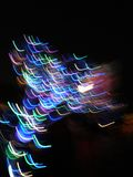 As cores iluminam-se no movimento imagem de stock