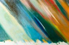 as cores macias são aplicadas diagonalmente à lona Imagens de Stock Royalty Free