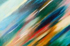 as cores macias são aplicadas diagonalmente à lona Foto de Stock