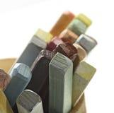 As cores pastel do artista, tiro macro do detalhe com baixo DOF (profundidade de campo) Fotos de Stock