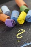 As cores pastel do artista, tiro macro do detalhe com baixo DOF (profundidade de campo Fotografia de Stock Royalty Free