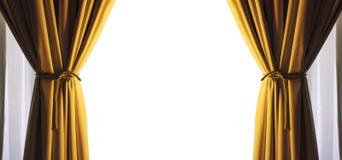 As cortinas esvaziam o quadro branco livre do espaço Cor do ouro Png disponível Fotos de Stock Royalty Free