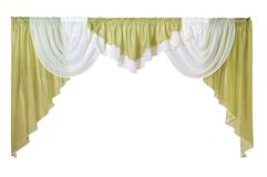 As cortinas isoladas no branco com trajetos contornam a seleção Fotografia de Stock