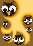 As corujas de Halloween Party o convite Ilustração do Vetor
