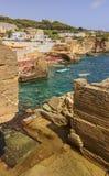 As costas as mais bonitas de Itália: Seascape Apulia de Salento Fotografia de Stock