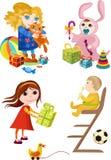 As crianças ajustaram-se ilustração stock