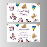 As crianças armazenam, molde do cartão da loja do bebê Fotos de Stock Royalty Free