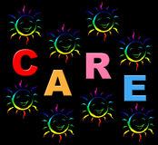 As crianças do cuidado indicam a ocupação e refereas Imagem de Stock Royalty Free