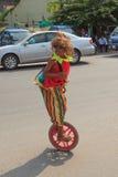 As crianças executam no carnaval do anuário de Sihanoukville Imagem de Stock Royalty Free