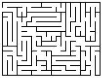 As crianças falam enigmaticamente, enigma do labirinto, ilustração do vetor do labirinto Imagens de Stock Royalty Free
