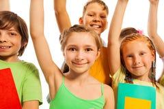 As crianças inteligentes estão prontas para responder Fotografia de Stock