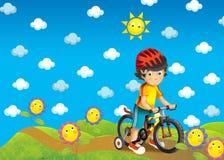 As crianças na viagem - ilustração Foto de Stock Royalty Free