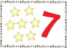As crianças temáticos do Natal numeram as séries 7 ilustração royalty free
