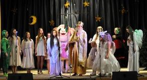 As crianças ucranianas comemoram o _10 de St_ Nicholas Day Foto de Stock Royalty Free