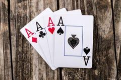 As - cuatro de un póker de la clase Fotografía de archivo