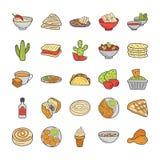 As culinárias do alimento embalam ilustração stock