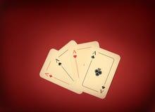 as cztery czerwień Fotografia Stock