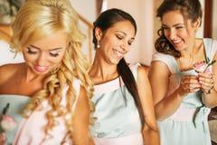 As damas de honra encantadores imagens de stock royalty free