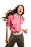 As danças da menina Imagens de Stock