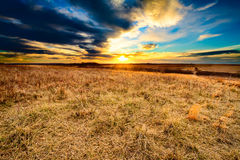 As Darkness Falls at Taberville Prairie Royalty Free Stock Images