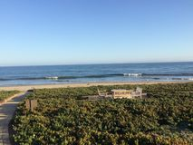 Coastline of beautiful Montecito, California stock photo