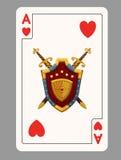 As de carte de jeu de coeurs Photographie stock libre de droits