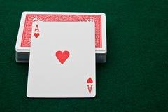As de corazones Foto de archivo libre de regalías
