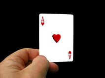 As de fixation de main Images libres de droits