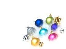 As decorações da árvore de Natal na pele isolaram-se Foto de Stock Royalty Free
