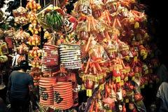As decorações da Lua cheia em um mercado param em Ásia fotos de stock royalty free