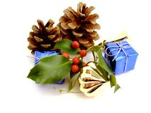 As decorações do Natal Fotos de Stock