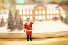 As decorações do Natal de Santa Claus Imagem de Stock