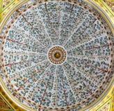As decorações do teto no harém do palácio de Topkapi, Istambul, a Turquia Imagens de Stock Royalty Free