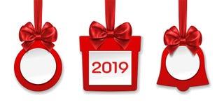 As decorações fizeram do papel para o Natal, ano novo ilustração do vetor