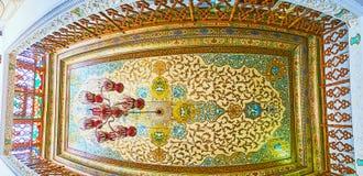 As decorações pintadas da casa de Qavam, Shiraz, Irã Fotografia de Stock Royalty Free